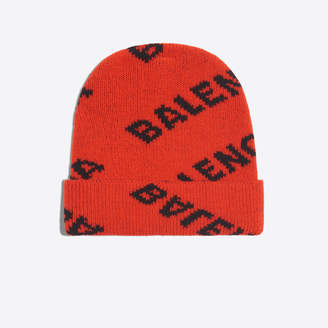 Balenciaga Stretch wool beanie with logo allover