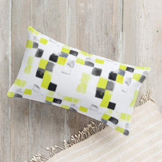 Spanish Tile Self-Launch Lumbar Pillows