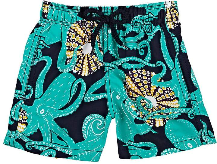Kids' Octopus-Print Swim Trunks