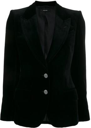Tom Ford velvet two-button blazer