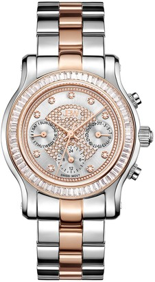 JBW Women's Laurel Diamond Accent & Crystal Two Tone Stainless Steel Watch