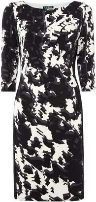 Lauren Ralph Lauren Printed side panel jersey dress