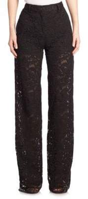 ADAM by Adam Lippes Wide-Leg Lace Pants