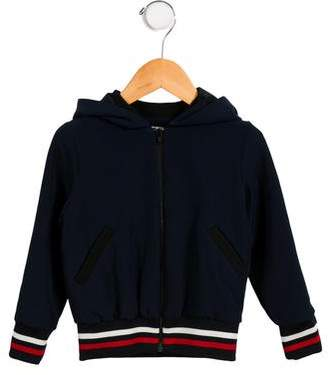 Milly Minis Girls' Hooded Zip-Up Jacket