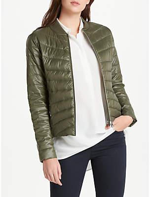 Oui Quilted Padded Jacket, Khaki