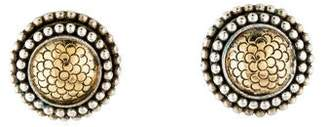 John Hardy Two-Tone Textured Clip-On Earrings