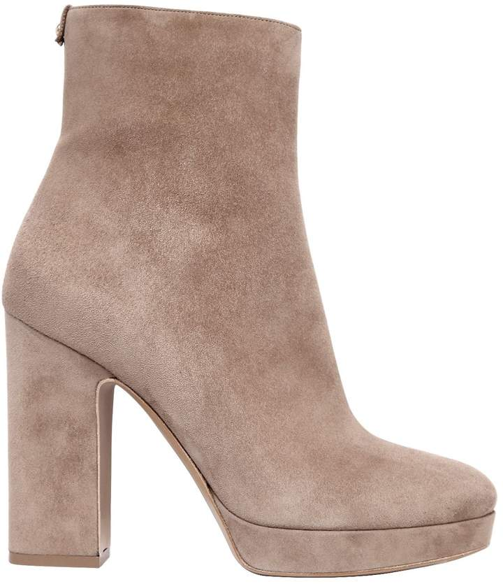 105mm Bolzano Suede Ankle Boots