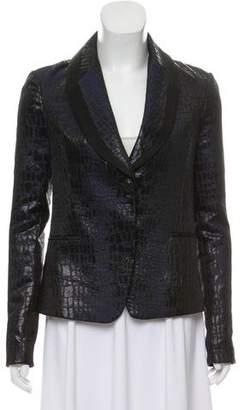 Diane von Furstenberg Printed Shawl Collar Blazer