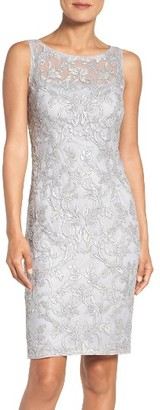 Women's Adrianna Papell Mesh Sheath Dress $189 thestylecure.com