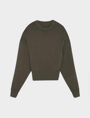 DKNY Runway Crew Neck Pullover With Half Open Back