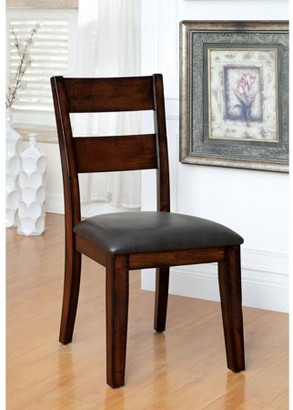 Furniture of America Dollarend Contemporary Ladder Back Dining Chair, Dark Cherry, 2pk