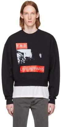 Enfants Riches Deprimes Black Live in Paris Crewneck Sweatshirt