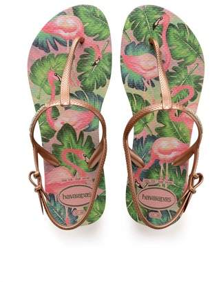 Next Womens Havaianas Rose Gold Freedom Print Flip Flop