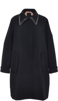 N°21 N 21 Alberta Wool-Blend Embroidered Coat