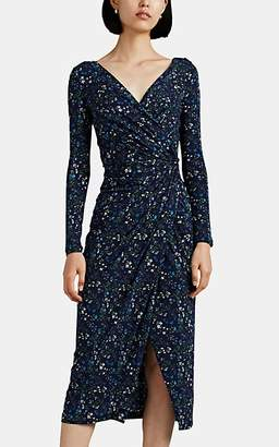 Altuzarra Women's Marilyn Floral Wrap Dress - Blue Pat.