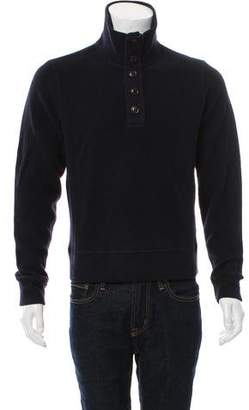C.P. Company Woven Zip-Up Sweater