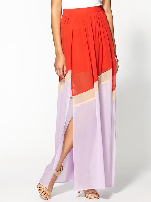 Vince Ark & Co. Colorblock Maxi Skirt