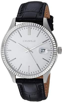 Bulova Caravelle Men's Quartz Stainless Steel and Leather Dress Watch