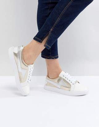 Head Over Heels by Dune Lightening Lace Up Sneakers