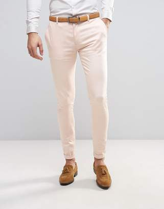 ASOS WEDDING Super Skinny Smart Pants with Turn Up $35 thestylecure.com