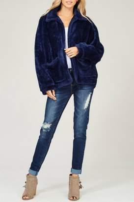 Listicle Faux Fur Jacket