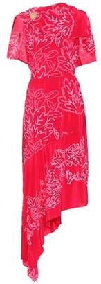 Embroidered silk dress