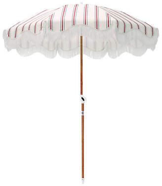Co Business & Pleasure Llc French Stripe Beach Umbrella - Red/Navy