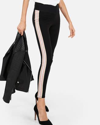 Express High Waisted Glitter Stripe Leggings