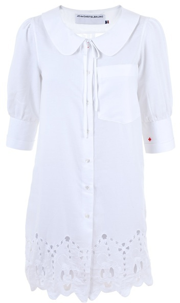 JC DE CASTELBAJAC - Embroidered cotton blouse dress