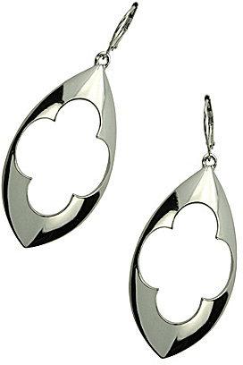 T Tahari Marrakesh Cut Out Design Drop Earrings