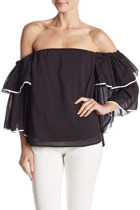 1 STATE 1.State Off-the-Shoulder Bell Sleeve Top