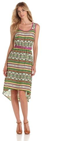Amy Byer Women's Print Dress with Belt