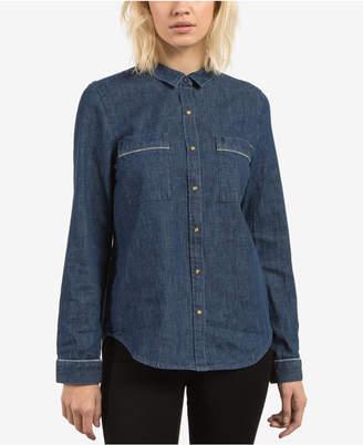 Volcom Juniors' Cotton Denim Shirt