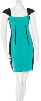 Jay Godfrey Silk Colorblock Dress