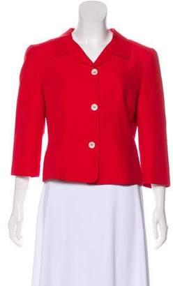 Blumarine Structured Button-Up Jacket