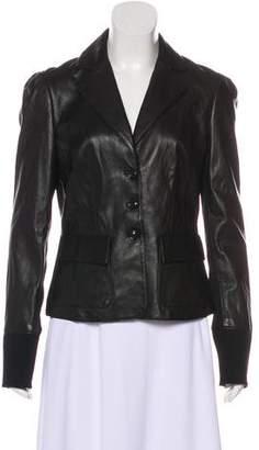 Diane von Furstenberg Miss Marlena Leather Jacket