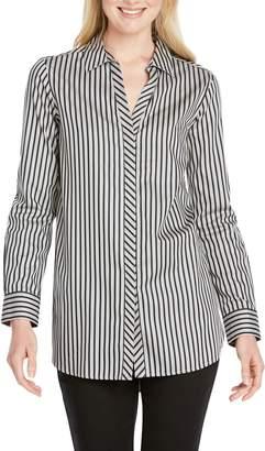 4949c5d796dd0 Foxcroft Vera Holiday Stripe Tunic Shirt