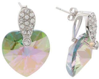 Sterling Silver Swarovski Crystal Heart Earrings