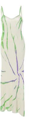 The Elder Statesman Cyclone Tie-Dye Silk Maxi Dress