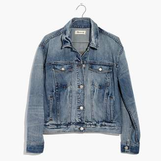 Madewell The Boxy Crop Jean Jacket in Woodcourt Wash