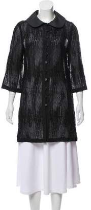 Andrew Gn Lace Short Sleeve Jacket