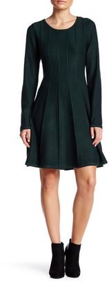 Eliza J Long Sleeve Fit & Flare Dress (Petite) $138 thestylecure.com