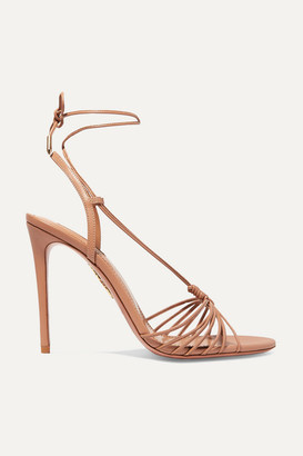Aquazzura Whisper 105 Leather Sandals - Antique rose