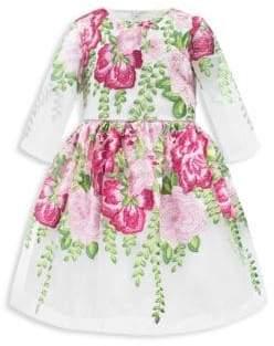 David Charles Little Girl's Embellished Belted Dress
