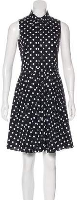 Michael Kors Sleeveless Polka Dot Shirtdress