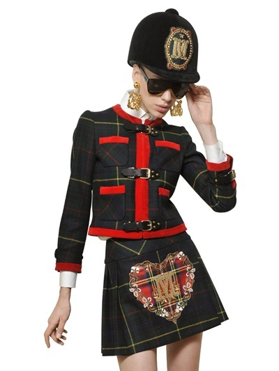 Moschino Heavy Virgin Wool Tartan Jacket
