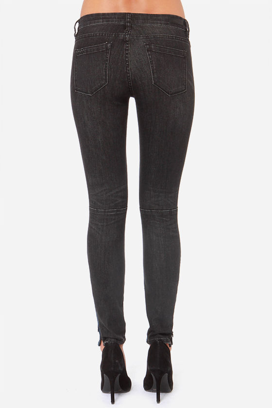 Blank NYC Two Tone Black and Blue Skinny Jeans