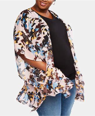 Motherhood Maternity Printed Kimono Blouse