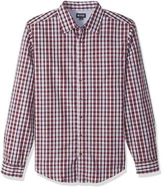 Haggar Men's Big&Tall Long Sleeve Tuckless Shirt