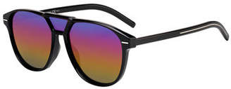 Christian Dior Men's Square Extended-Lens Grilamid Sunglasses